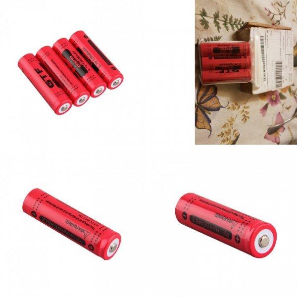 Аккумуляторные батарейки GTF 18650