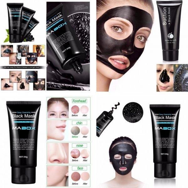Угольная черная маска Mabox