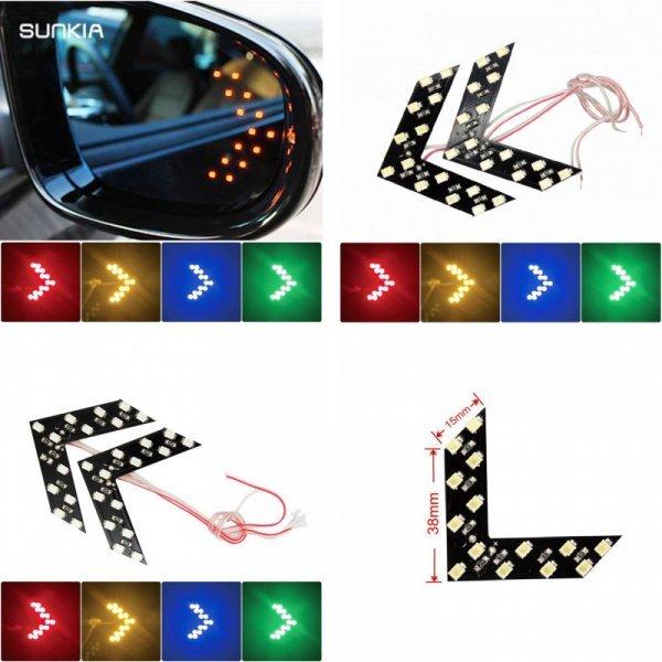 Светодиодный указатель поворота для автозеркал SUNKIA  (2 шт, 4 цвета)