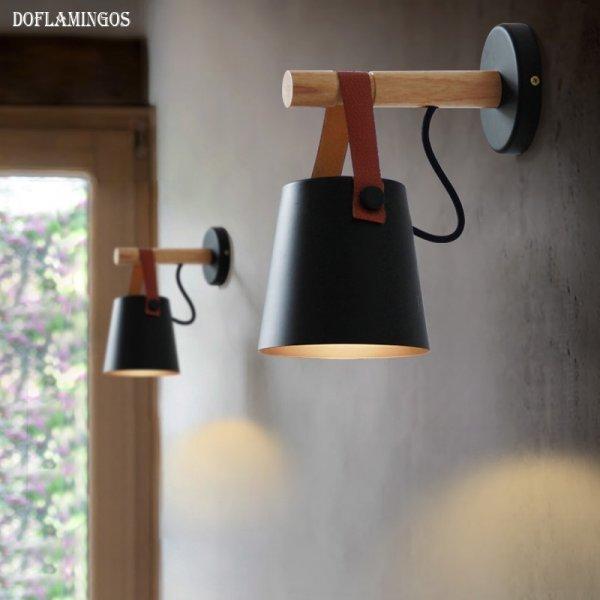 Бра Doflamingo в строгом дизайне для гостиной (2 цвета, 22*13*13 см,  E27)
