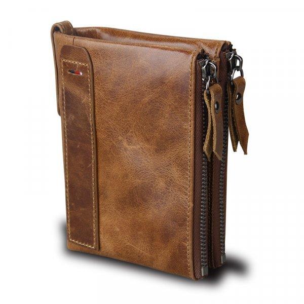 ХИТ! Настоящий мужской бумажник Baellerry (нат. кожа, 5 цветов, 11.5*9.5*1.5 см)