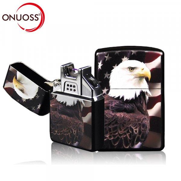 Зажигалка для настоящих мужчин ONUOSS с USB-зарядкой (16 цветов, 57*39*13 мм)