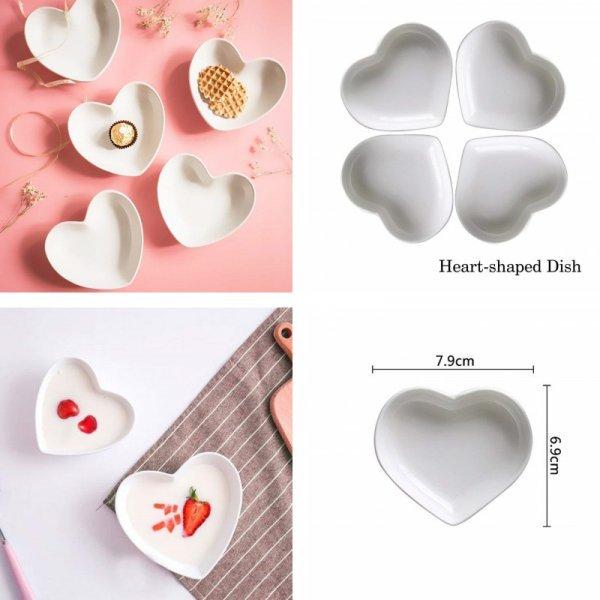 Милый наборчик посуды Сердце (4 шт, 2 размера)