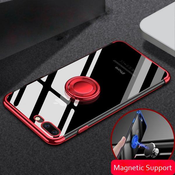 Притягательный прочный чехол с кольцом для смартфона (iPhone 6-8)