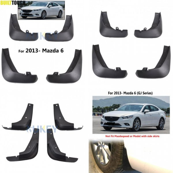 Набор брызговиков для Mazda 6 (4 шт, 2013-2017 )