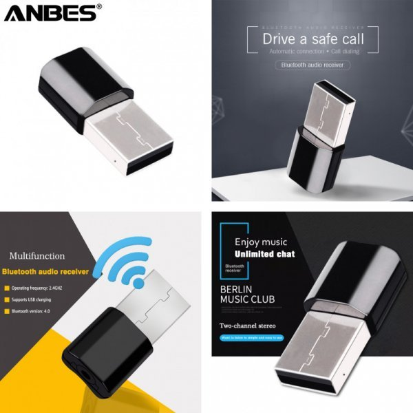 Автомобильный мульти адаптер ANBES (Bluetooth AUX)