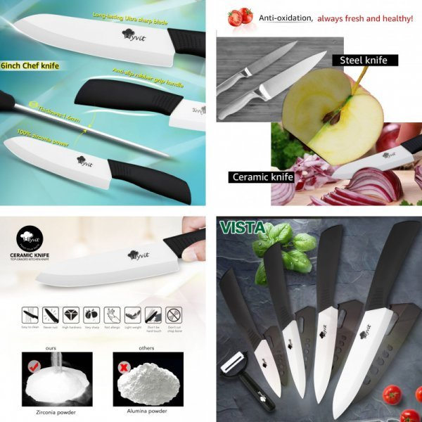 Керамические ножи MYVIT (4+1)