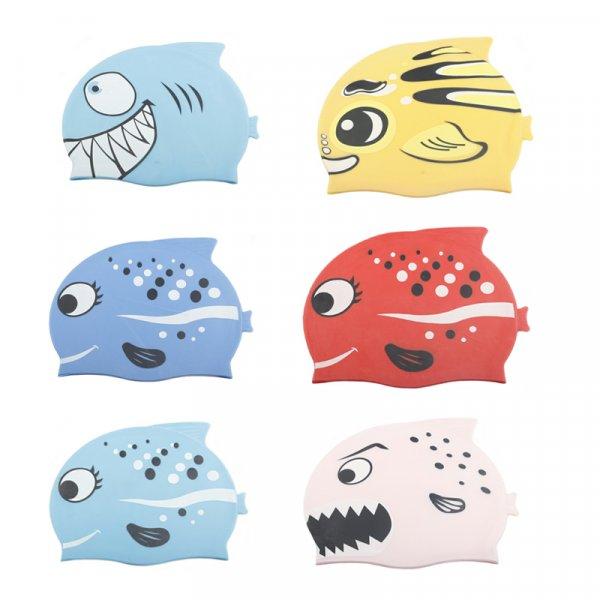 Детская шапочка для плавания Рыбки (6 цветов)