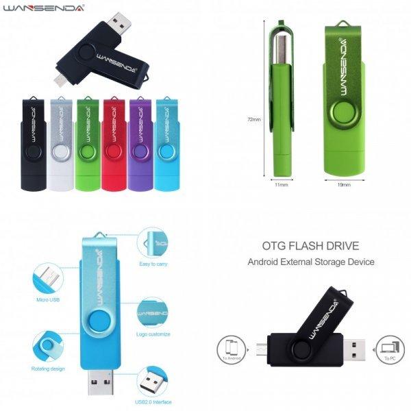 Быстрая USB  флешка WANSENDA (6 объемов)