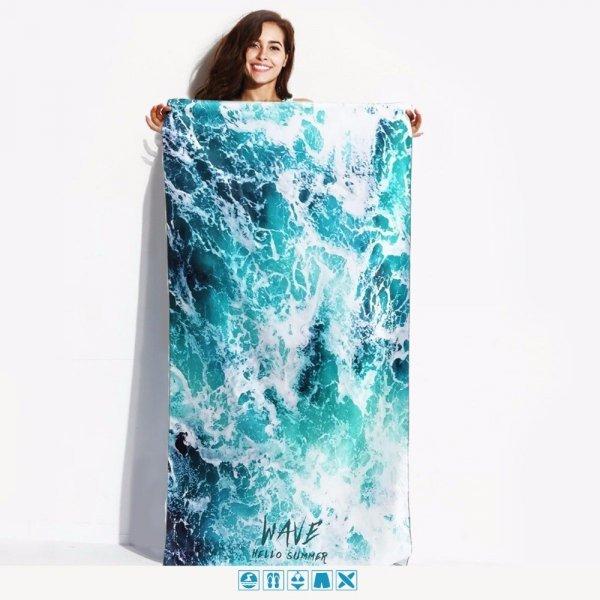 Яркое полотенце для пляжа Snailman (14 цветов)