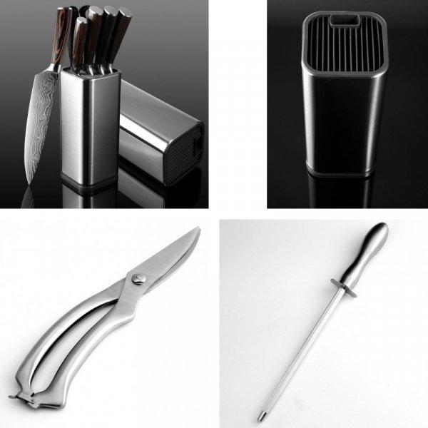 Набор ножей из стали XITUO  на кухню (5 видов, 7 шт)