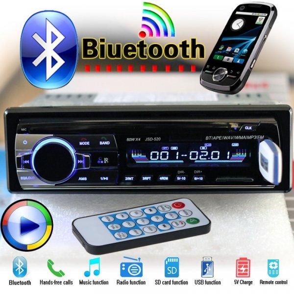 Крутая автомагнитола FYPLAY (12V Bluetooth MP3 FM/USB/SD/AUX 1 DIN)