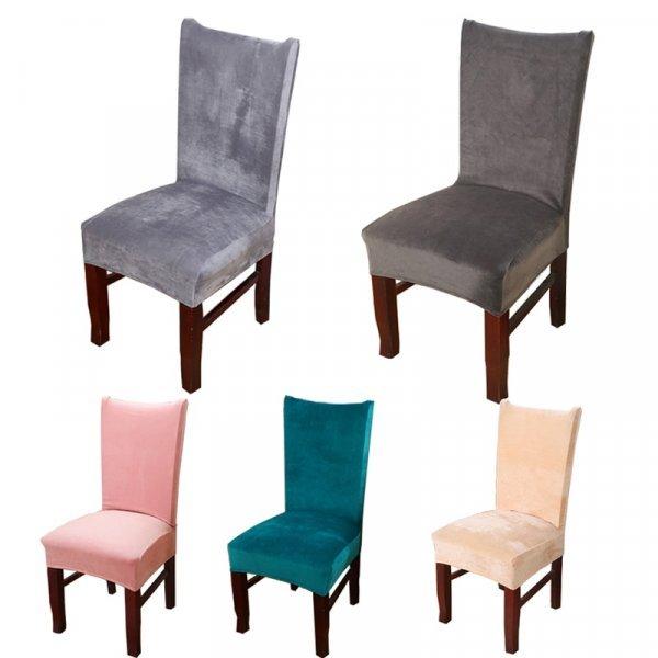 Чехол для стула под бархат DecorUhome  (22 цвета, 55*55*60 см)