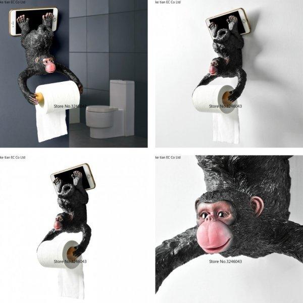 Забавный держатель туалетной бумаги 2 в 1