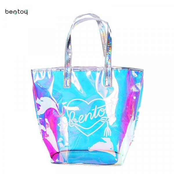 Ультра модная пляжная сумка Bentoy с голограммой  (33.5*28.5*21.5 см)