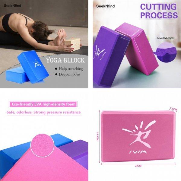 Блоки для йоги и пилатеса SeekNfind (1 шт, 3 цвета)