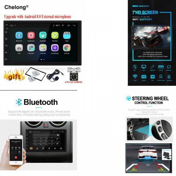 Автомобильная 2din магнитола с навигатором Che long (Android 8,0 WI-FI Bluetooth)