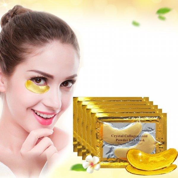 Высокоэффективные патчи для глаз с золотом против отеков и морщин (40 шт)