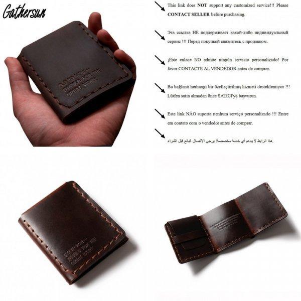 Брутальный мини бумажник для мужчин Gathersun (нат. кожа, 3 цвета, 10.5*8.5*1.5 см)