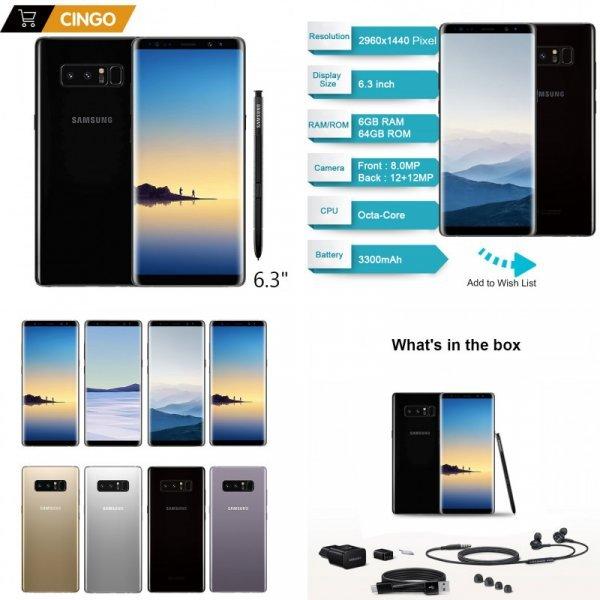 "Чумовой смартфон Samsung Galaxy Note 8 6.3"""
