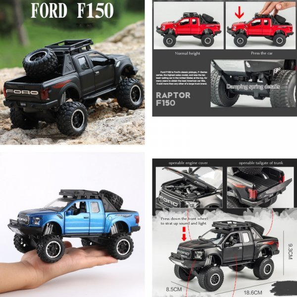 Машинка KIDAMI Ford Raptor (1:32, 18 цветов)
