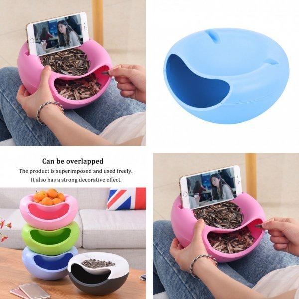 Мисочка с подставкой под телефон  (4 цвета)