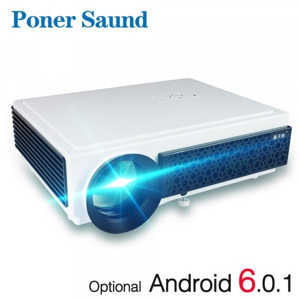 "Проектор для дома  Poner Saund (Android 4.4 WIFI TV 100 ""Full HD 3D)"