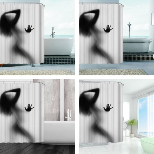 Сексуальная штора для ванной AIHOME ( 150*180 см, 180*180 см)
