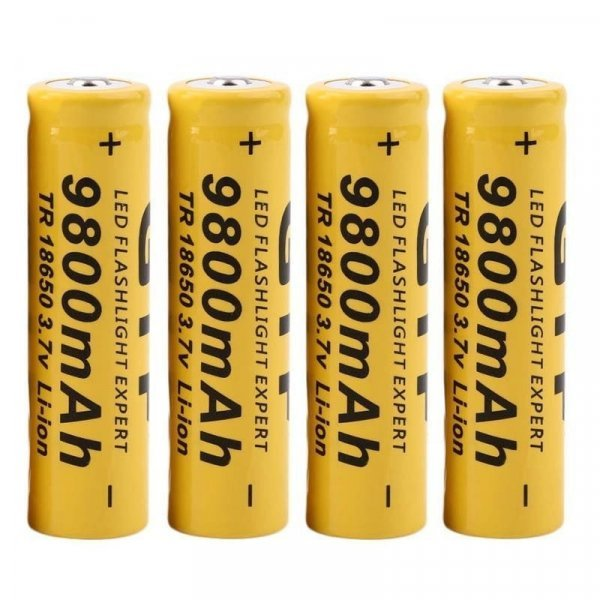 Литий-ионные аккумуляторы CARPRIE 9800 мАч (4 шт)