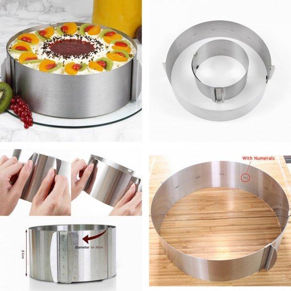 Отличное раздвижное кольцо для торта ACRDDK (H=8.5 см)