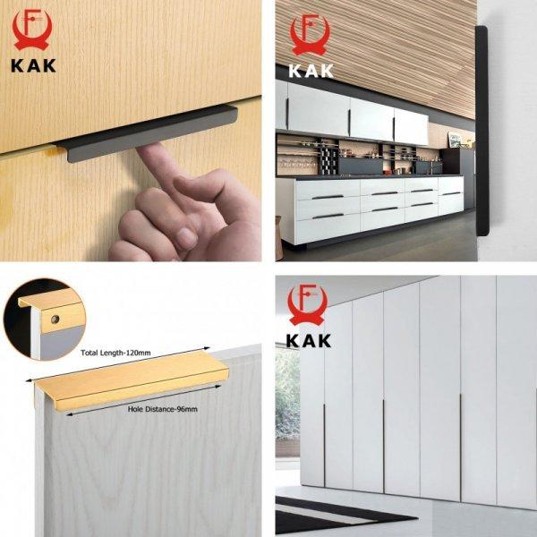 Скрытые мебельные ручки KAK (26 видов)