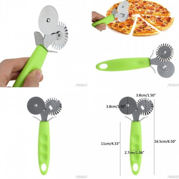 Двойной нож для смачной пиццы OOTDTY