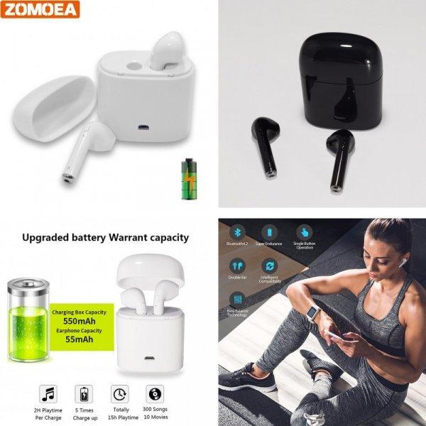 Спортивные наушники с Bluetooth ZOMOEA для iPhone, Samsung, Xiaomi (19.7*4.7 мм)