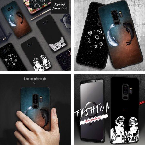 Космический чехол для Samsung Galaxy (S9 S8 A8, 8 дизайнов)