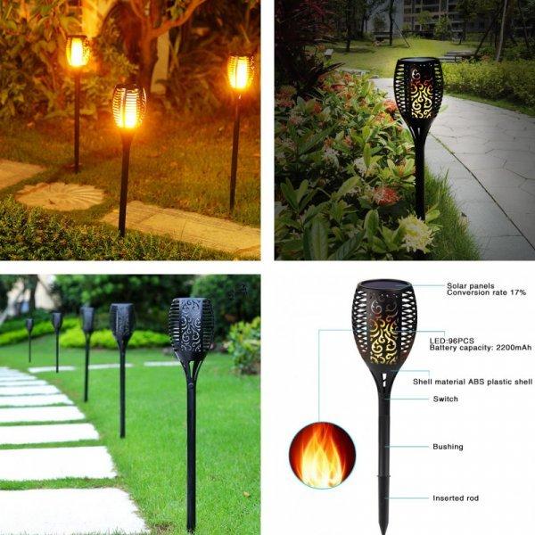 Яркий фонарь для садовых дорожек на солнечных батареях RUOCLN (3.7 В/2200 мАч)