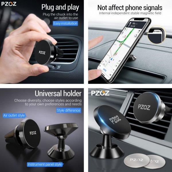 Автомобильный держатель смартфона на магните PZOZ (4 цвета)
