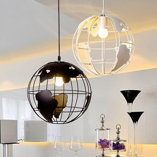 Подвесной светильник Глобус  220 В (2 цвета, 28 см)
