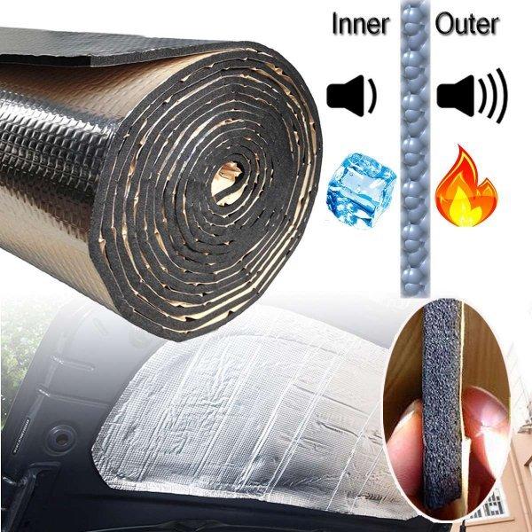 Маты для шумки салона авто Auzan  (140*100 см, шумо-огнеупорные)