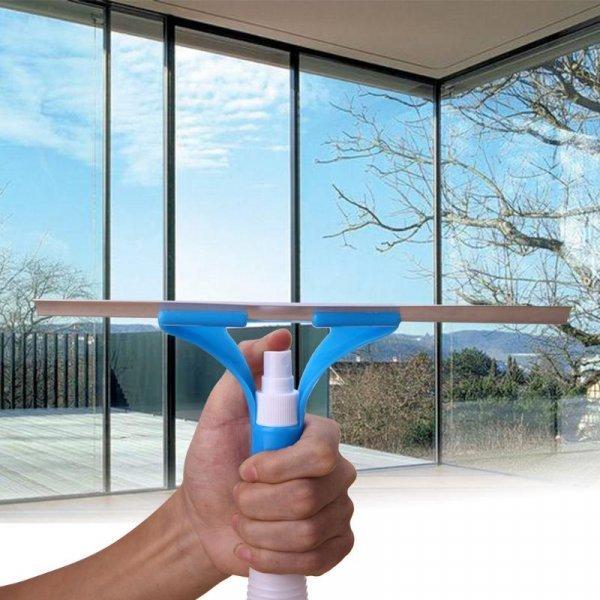 Скребок для стекол с распылителем VKTECH