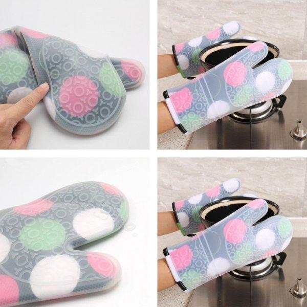 Силиконовые рукавицы на кухню