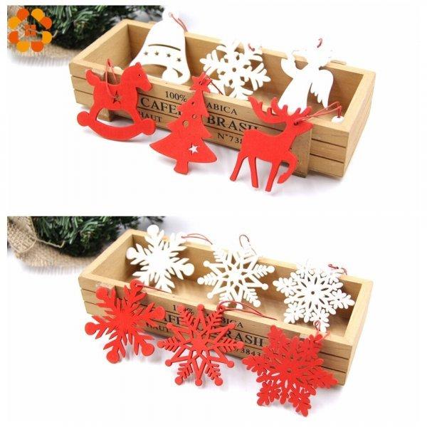 Елочные игрушки Снежинки (6 шт, 4 вида)