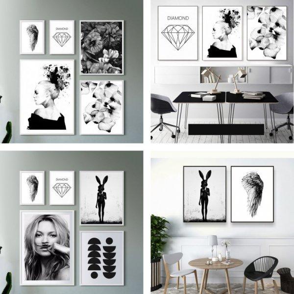 Идеальный постер на холсте для комнаты подростка BLINGIRD (7 рисунков, 6 размеров)