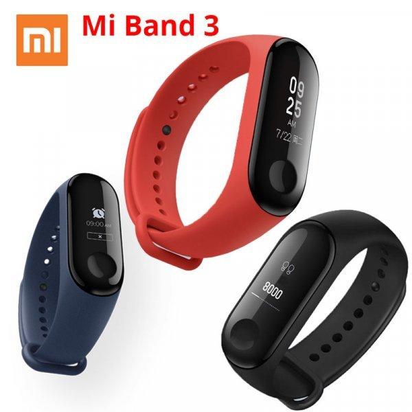 Фитнес браслет Хiaomi Mi Band 3  (3 цвета)