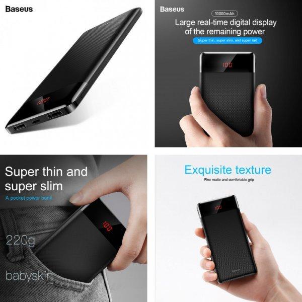 Ультратонкий повербанк Baseus  Dual USB (10000 мАч )