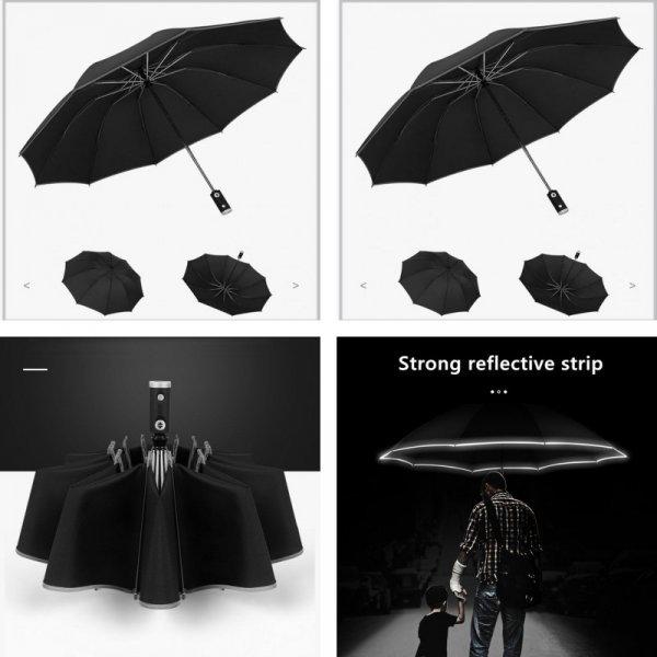 Автоматический зонт с фонариком (9 цветов)